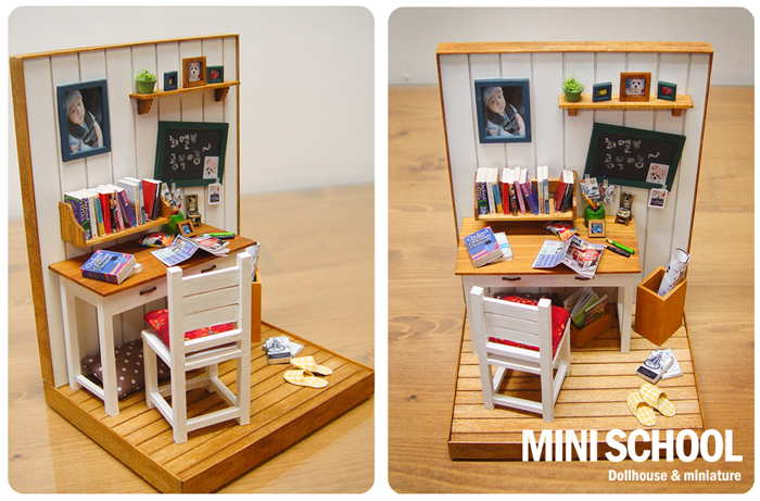 Mini school miniature dollhouse - Bbs dollhouse ...